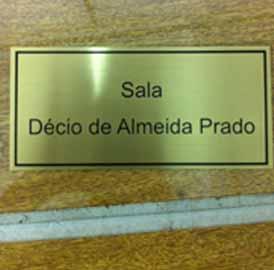 Placa de Latão